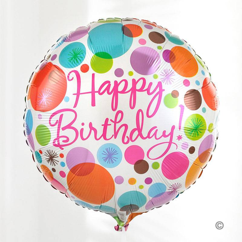 Send Your Birthday Wishes With A Wonderful Fun Round Shaped Balloon This Brightly Coloured