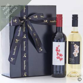 This beautifully presented gift box of red and white wine will be carefully hand delivered by Sandra's Florist. We've partnered one of our favourite Merlots with a zesty, citrusy Sauvignon Blanc, giving you a pair of wines for different palettes and occasions. The presentation box featuring a 75cl bottle of Red Orchid Merlot and a 75cl bottle of White Orchid Sauvignon Blanc.