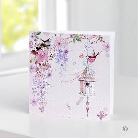 Pretty Greetings Card   Blank