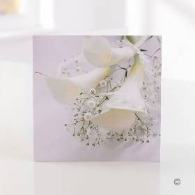 Elegant white Calla Greetings Card