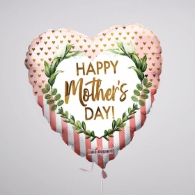 This pretty heart-shaped Mother's Day Balloon is the perfect addition to your flowers arranged by Sandras's Florist, Holbury. Featuring the 'Happy Mother's Day' message it's a fun finishing touch that is sure to bring a smile.