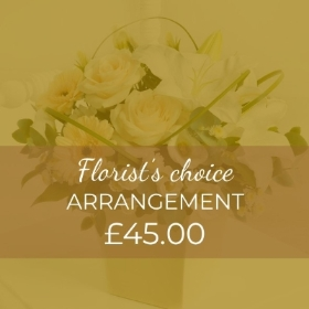 What could be more wonderful that a stunning arrangement of seasonal flowers? This will show just how much you care , our skilled florists will skilfully create this fresh flower arrangement that offers fantastic convenience as well as beauty. We'll create a design that is loved in a container that will be lovely keepsake. This arrangement will be perfect for people to take advantage of the ease of simply topping up the container with water occasionally, as this is all the care needed to enjoy these flowers. You can trust that Sandra's Florist will not only create this arrangement that will show just how much you care, but it will be delivered carefully with 100% contact free.