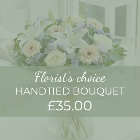 This £35 Fresh Flower Hand-tied bouquet will include the freshest flowers hand selected by our professionals at Sandra's Florist. This unique designs include a selection of the finest quality flowers each complimenting the other to give an overall bouquet that is simply beautiful. It will be completed with gift wrapping. We'll carefully hand delivered 100% contact free so order with complete confidence knowing that your thoughts and message will be delivered with in a way that won't be forgotten.